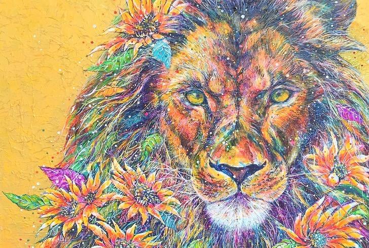 向日葵ライオン
