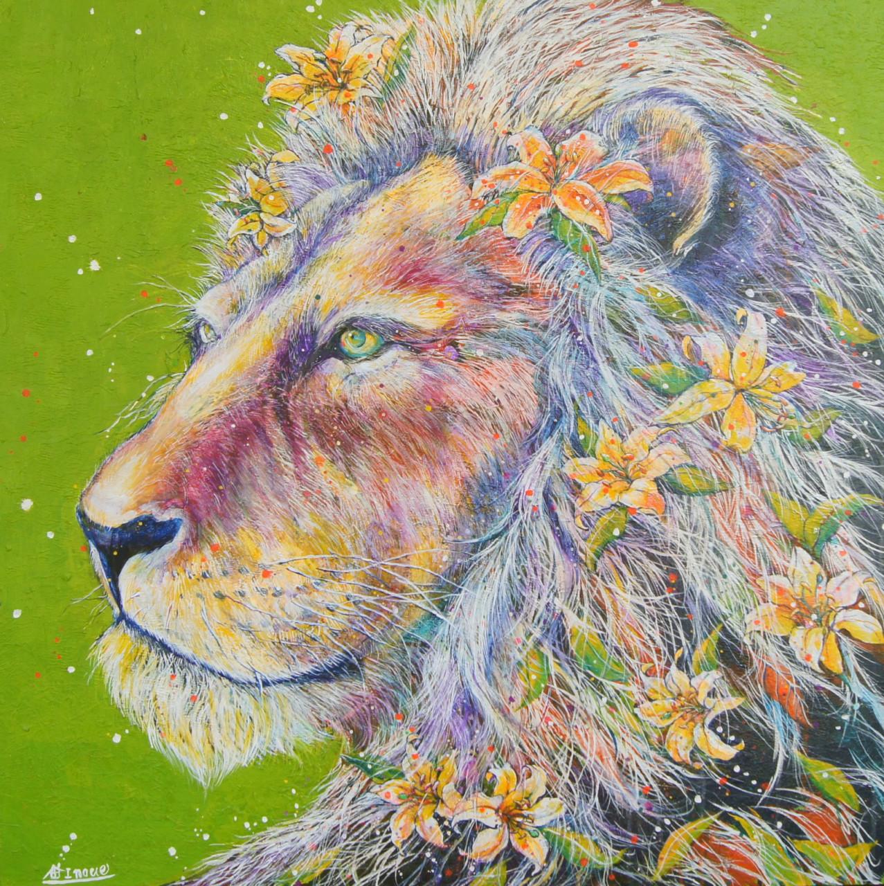 花白ライオン